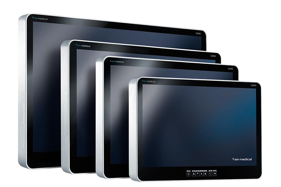 "CLINIO monitors in various sizes, 22"", 24"", 27"" and 32"""